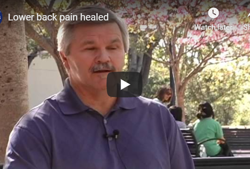 Lower back pain healed